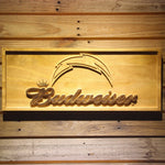 San Diego Chargers Budweiser 3D Wooden Sign
