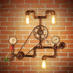 Vintage Industrial Bicycle Gear Wall Lamp