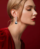 Beautiful Lady With Pearl Drop Earring