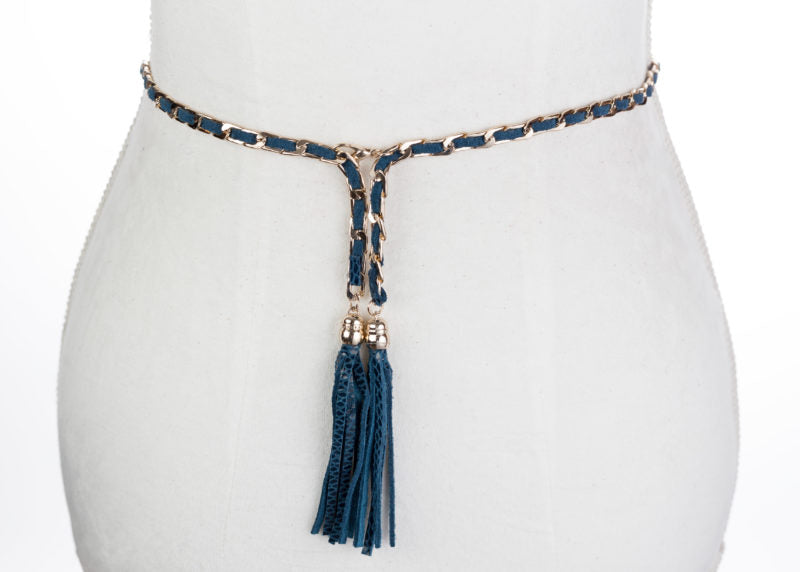 Snakeskin Tassel Belt - Two 12 Fashion