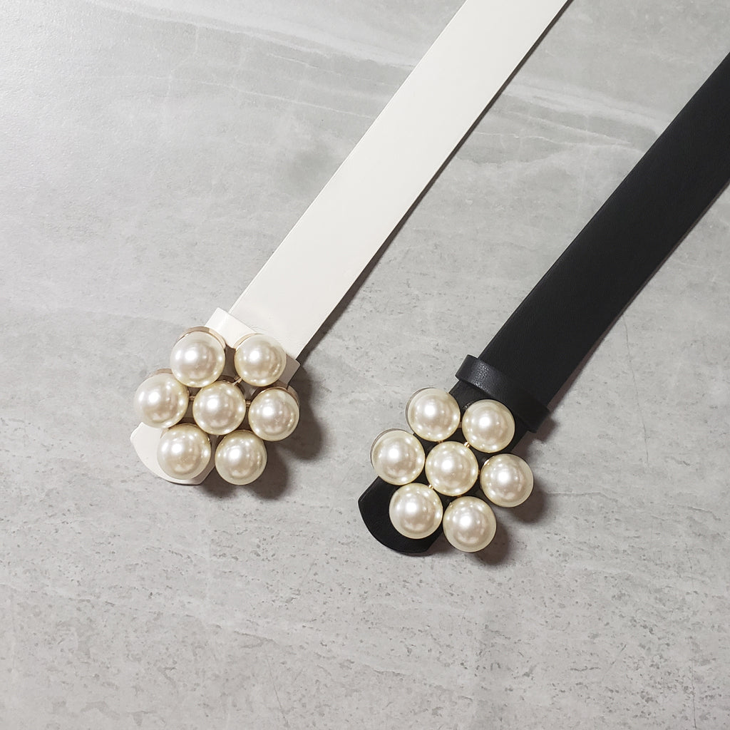 Pearl Cluster Waist Belt - Two 12 Fashion