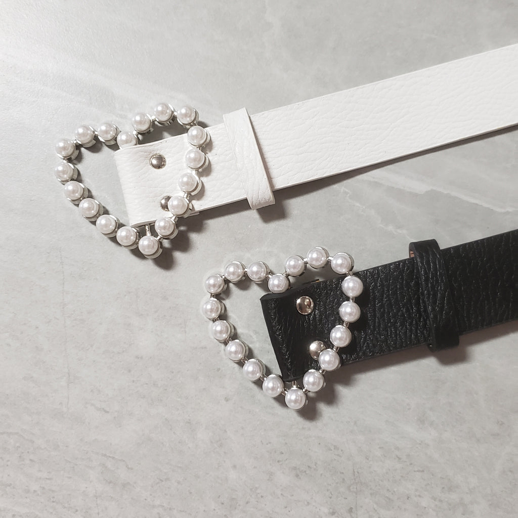 Pearl Heart Waist Belt - Two 12 Fashion