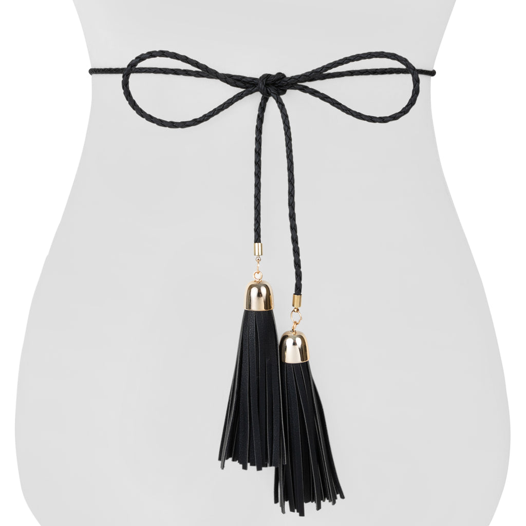 Braided Tassel Belt - Two 12 Fashion