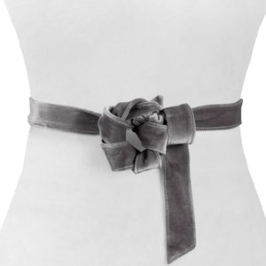 Velvet Skinny Wrap Belt - Two 12 Fashion