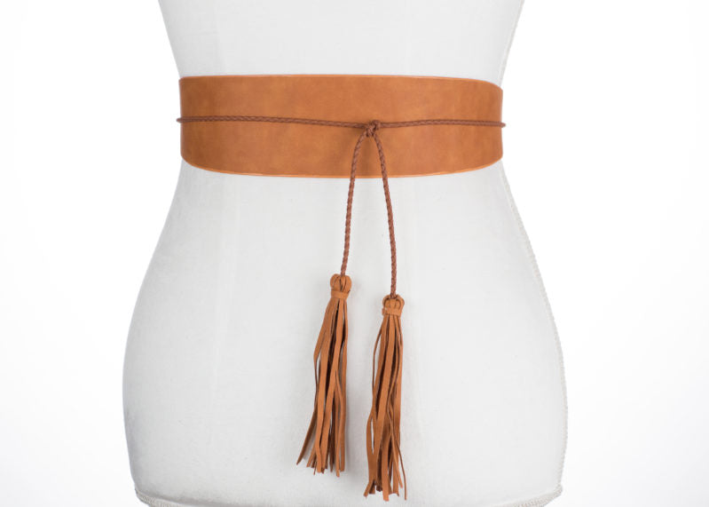 Wrap with Tassel Belt - Two 12 Fashion