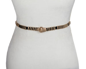 Gold Diagonal Stretch Belt - Two 12 Fashion