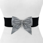 Rhinestone Bow Stretch Belt - Two 12 Fashion