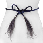 Ostrich Feather Belt - Two 12 Fashion