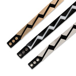 Two 12 Fashion Women's Black and White Stretch Belt - Two 12 Fashion