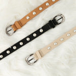 Two 12 Fashion Women's Designer Leather Pearl Belt - Two 12 Fashion