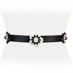 Leather Flower Belt - Two 12 Fashion