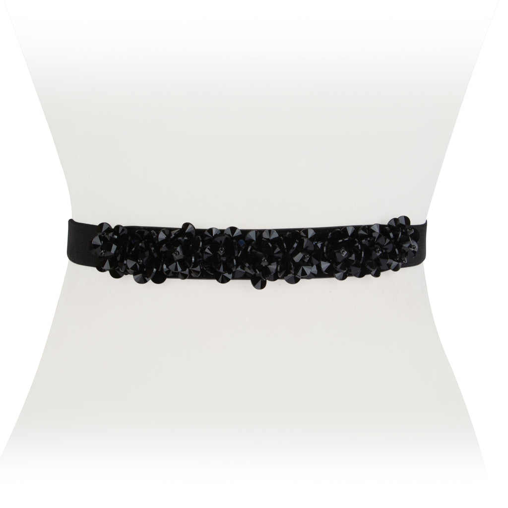 Floral Crystal Stretch Belt - Two 12 Fashion