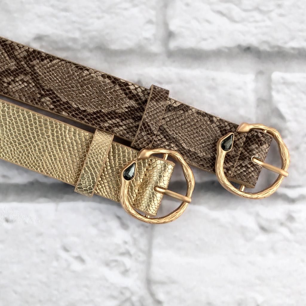Diamond Snake Skin Belt - Two 12 Fashion