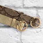 Two 12 Fashion Designer Diamond Snake Skin Belt - Two 12 Fashion