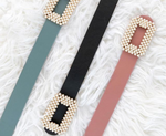 Pearl Buckle Belt - Two 12 Fashion