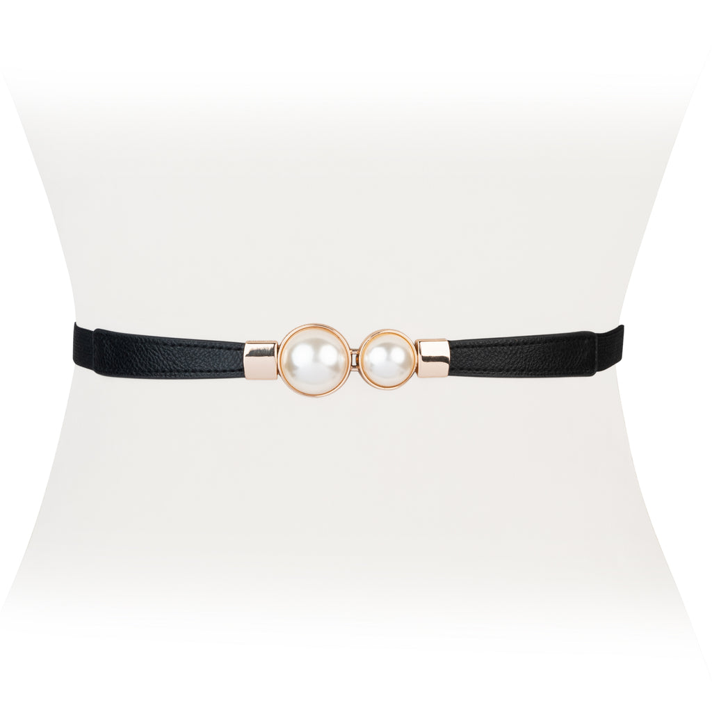 Pearl Clasp Stretch Belt - Two 12 Fashion