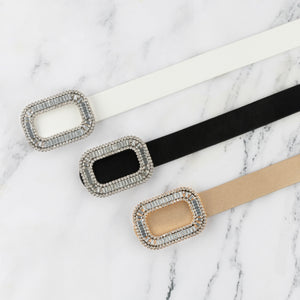 Crystal Buckle belt - Two 12 Fashion