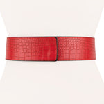 Two 12 Fashion Women's Genuine Alligator Leather Wrap Belt - Two 12 Fashion