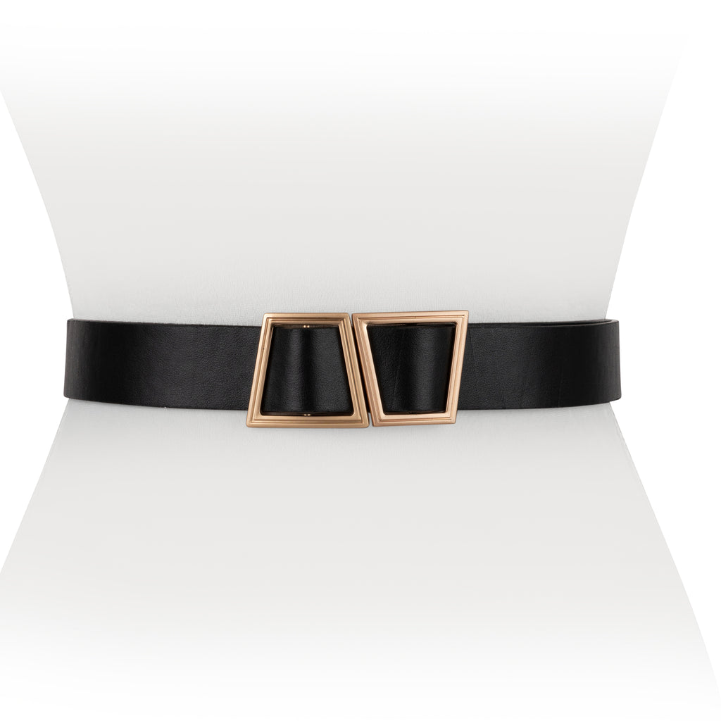 Double Matte Gold Buckle - Two 12 Fashion