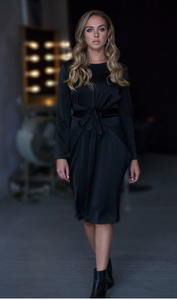 Wrap Dress (Black) - Two 12 Fashion
