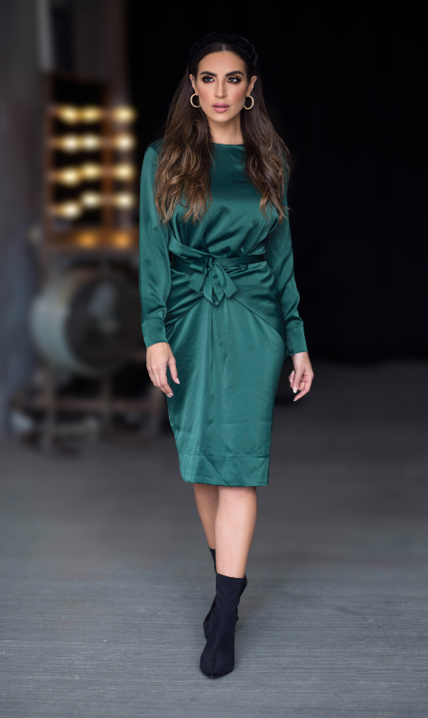 Wrap Dress (Hunter Green) - Two 12 Fashion