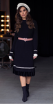 Sweater Dress (Black/White) - Two 12 Fashion