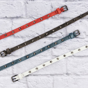 Two 12 Fashion Women's Designer Skinny Star Belt - Two 12 Fashion