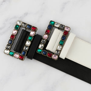 Two 12 Fashion Women's Designer Rainbow Buckle Belt - Two 12 Fashion