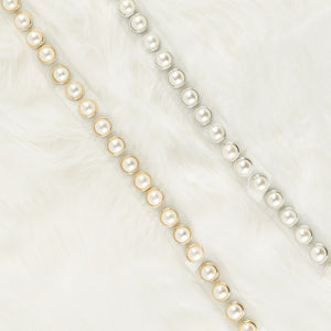 Two 12 Fashion Women's Designer Transparent Pearl Belt - Two 12 Fashion