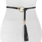 Leather Knot Tassel Belt - Two 12 Fashion