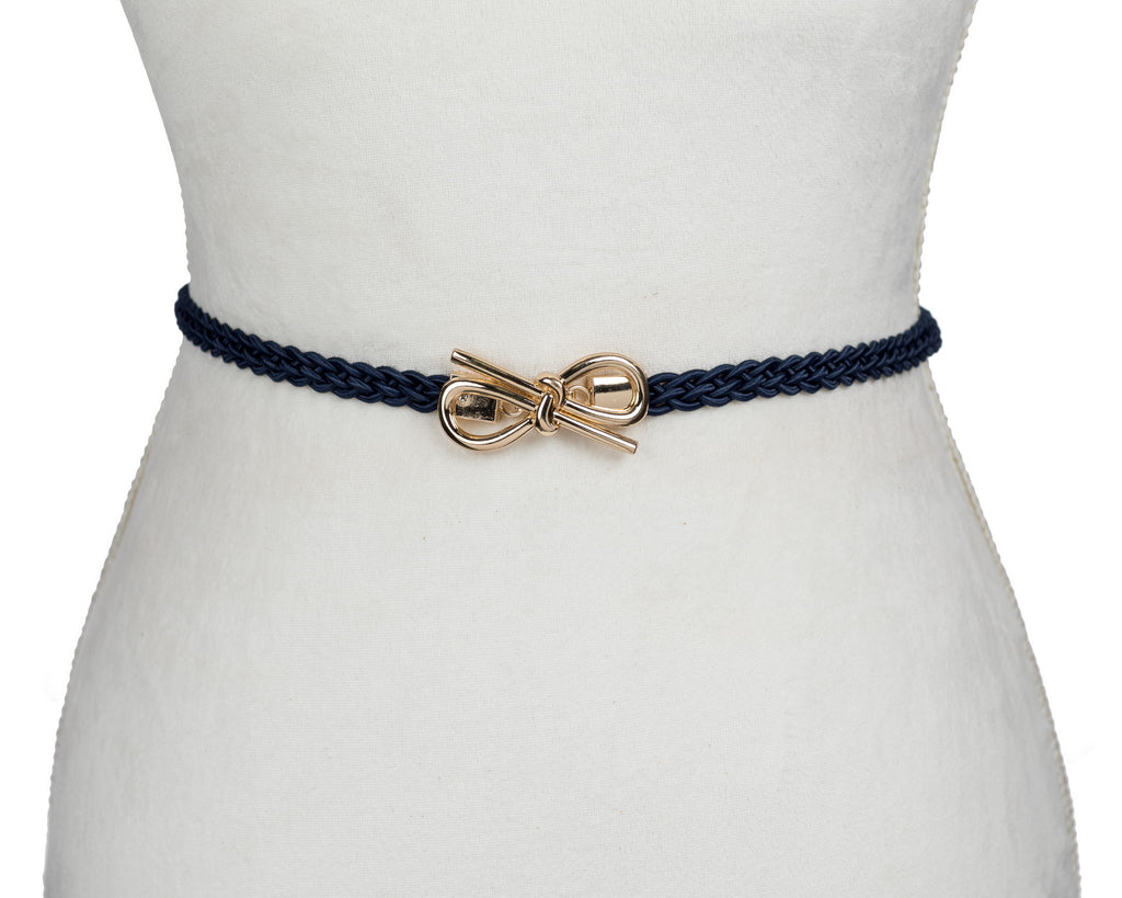 Braided Elastic Bow Belt - Two 12 Fashion