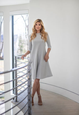 LEVEL Shimmer Ribbed Dress. - Two 12 Fashion
