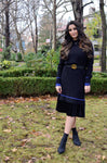 Sweater Dress (Black/Royal Blue) - Two 12 Fashion