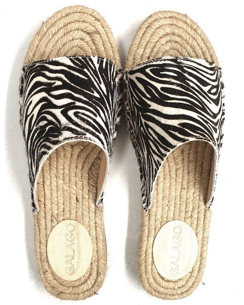 Zebra print leather