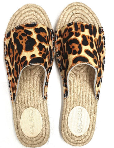 Leopard print leather