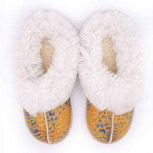 Leopard Sheepswool Slipper
