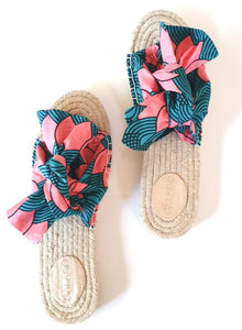 Turquoise Bow Espadrilles