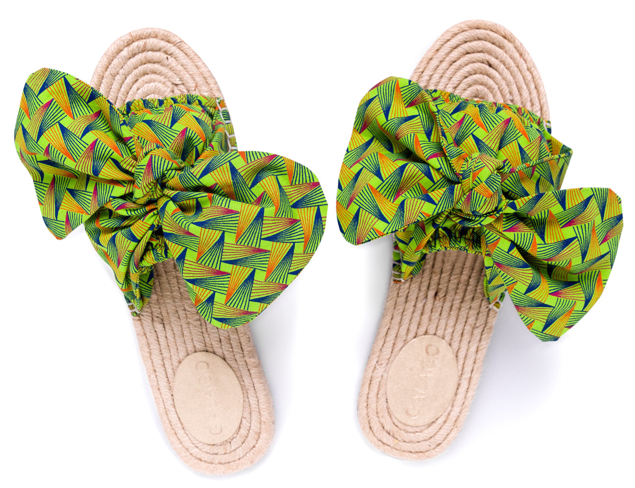 Acid Green Bow Espadrilles