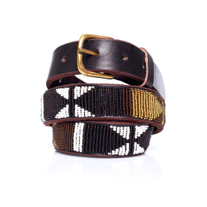 Black White Gold belt