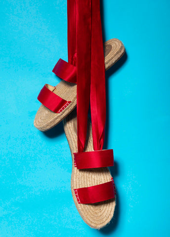 Red Ribbon Espadrilles