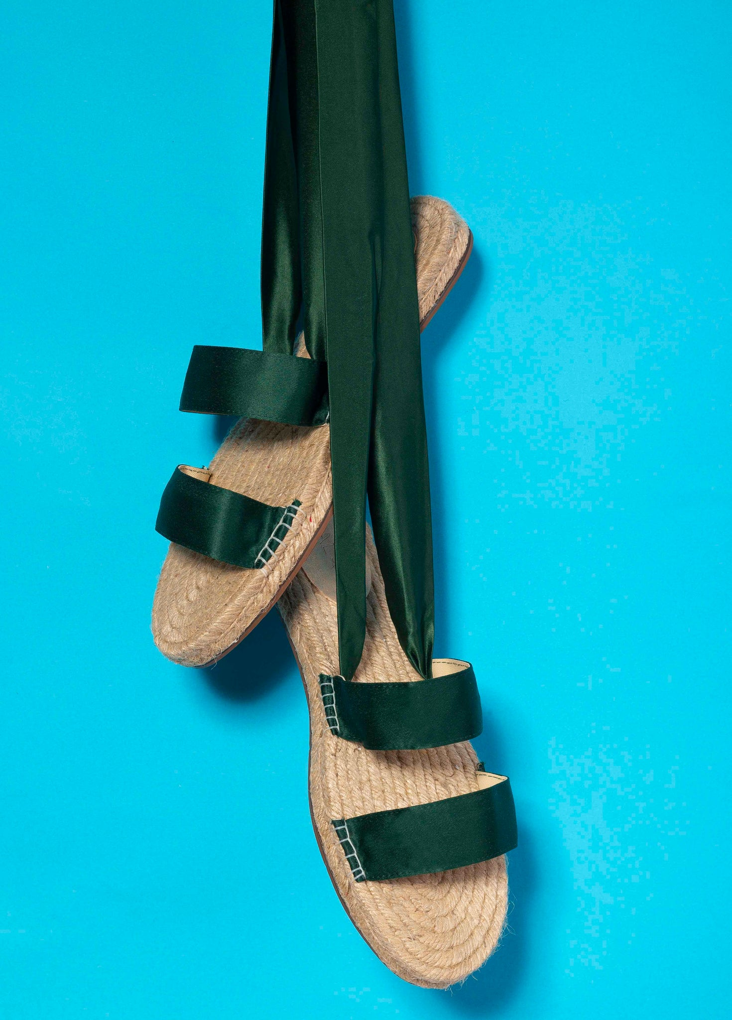Green Ribbon Espadrilles