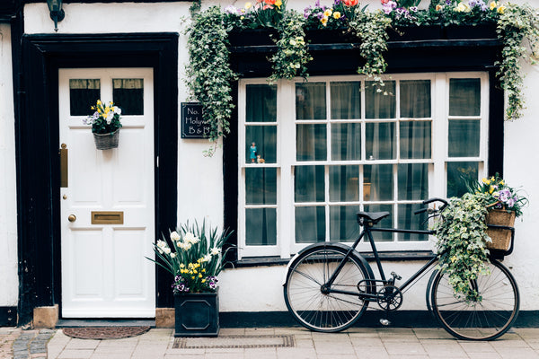 travel, door, bike, window, garden, flower