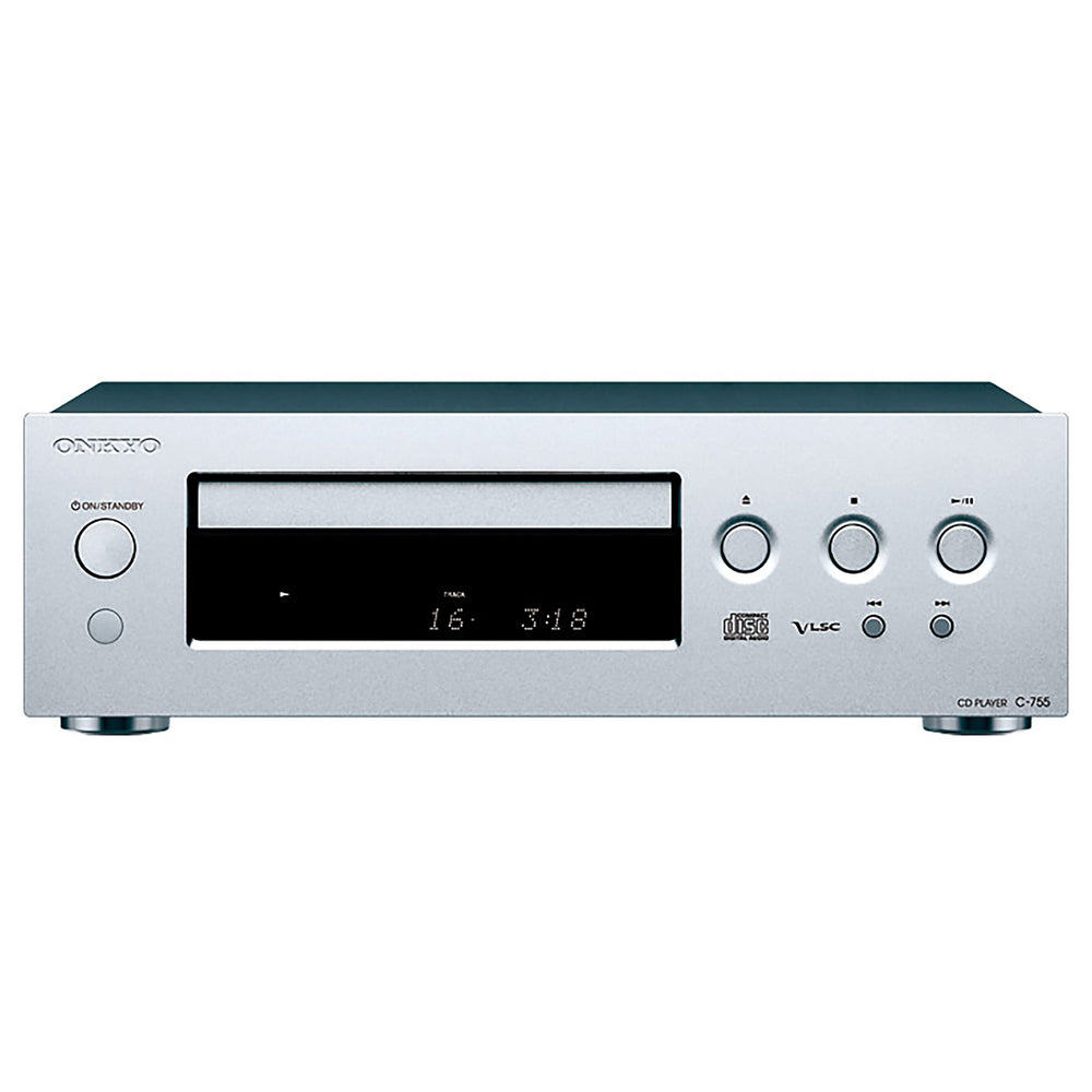 ONKYO CD Player. Flat anti-vibration chassis.