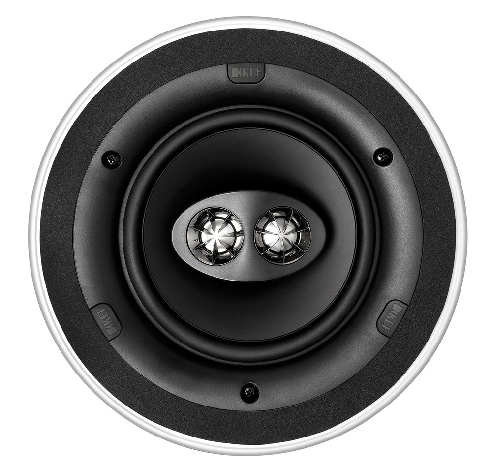 "KEF Ultra Thin Bezel 6.5"" Dual Stereo Round In-Ceiling Speaker."