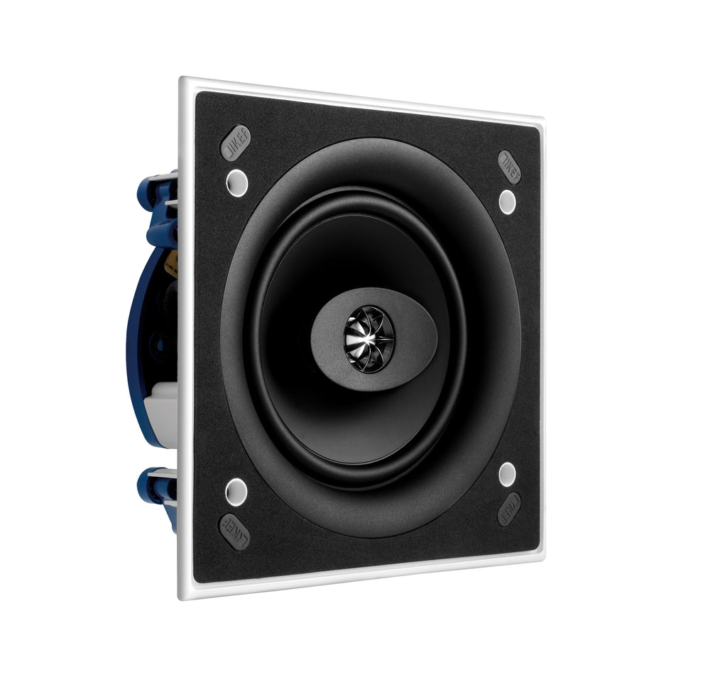 "KEF Ultra Thin Bezel 6.5"" Dual Stereo Square In Ceiling Speaker."