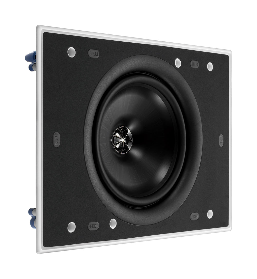 "KEF Ultra Thin Bezel 8"" Rectangular In Wall Speaker."