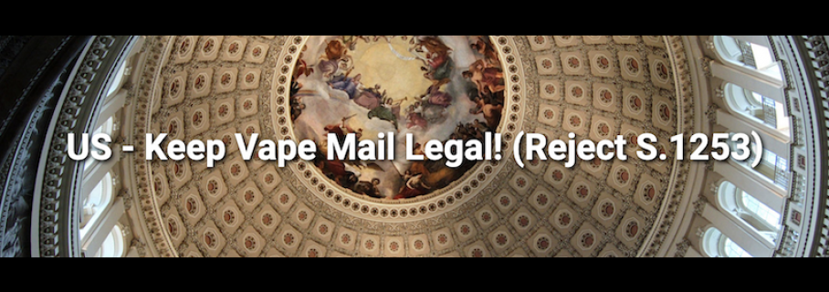 US – Keep Vape Mail Legal! (Reject S.1253)