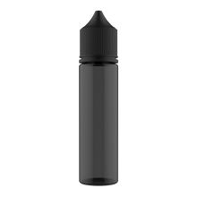 Load image into Gallery viewer, CHUBBY GORILLA - 60ML UNICORN BOTTLE - TRANSPARENT BLACK BOTTLE/BLACK CAP  V3 - Fulfillment Center