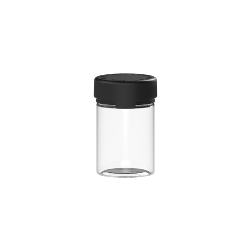 CHUBBY GORILLA AVIATOR STASH JAR -120CC/4FL.OZ/120ML - INNER SEAL/TAMPER - CLEAR/BLACK LID - Fulfillment Center