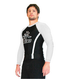 "Keiko Long Sleeve Rash Guard ""Speed"" Black & White"